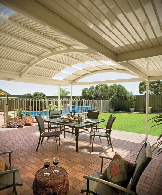 Stratco Outback Curved Patio Verandah All Type Roofing