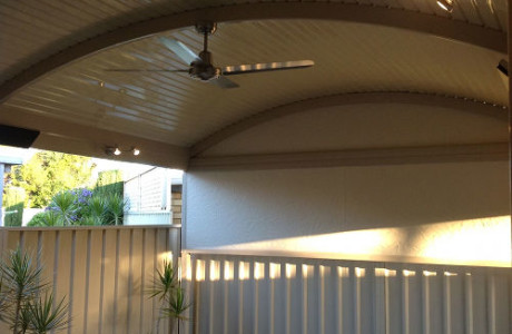Curved Roof Verandah Adelaide Fan and Lights