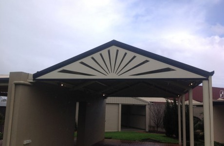 Laser Cut gable end infill Verandah Completed Adelaide