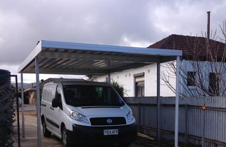 Free standing zinc Frontier carport