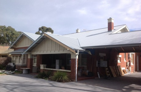 Re roofing project color bond armour grey cgi roofing and og style gutters