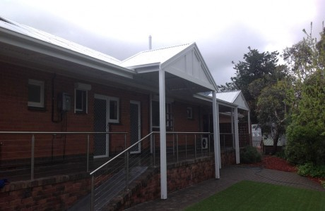 Timber Gable Flat Verandah with Colorbond Corrugated Roofing