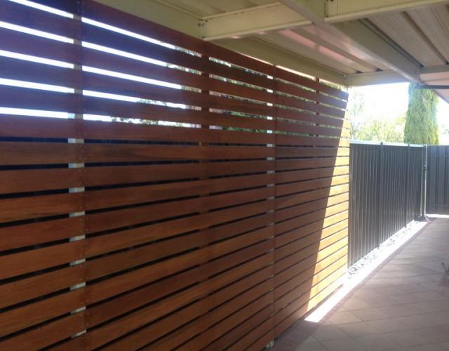 Timber Kapur Screening on Adelaide Verandah - All Type Roofing