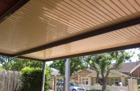 Flat Carport Adelaide Cream Roofing