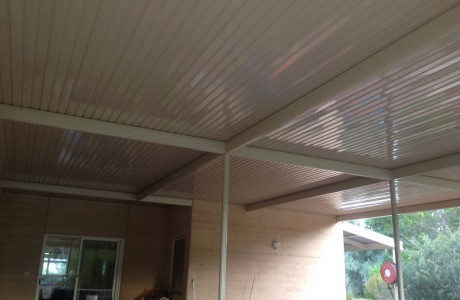 Flat outback verandah outback deck roofing