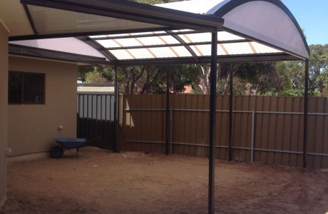 Multispan curve verandah with laser light roofing