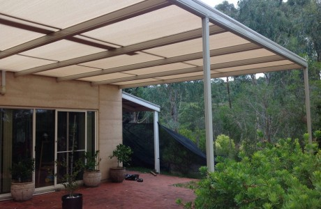 Stratco Outback Shade Cloth Covered Pergola