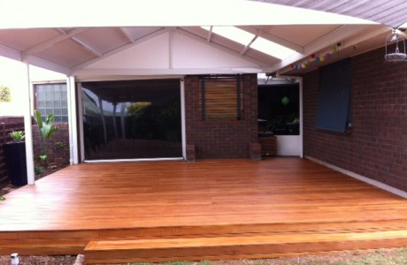 Timber Decking with Natural Gloss Finish Verandah