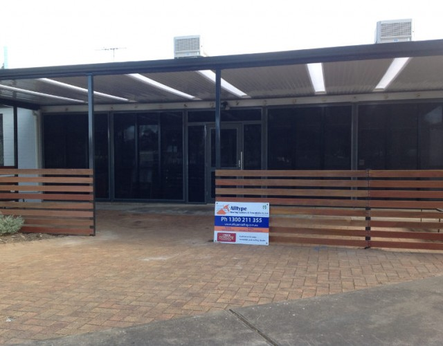 Flat Stratco Outback Verandah With Roof Lights At Seaton