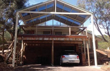 Verandah-built-over-deck-multispan-gable