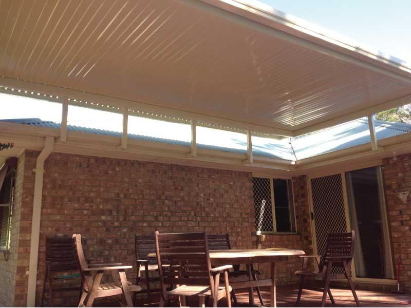 Outback Flat Roof Verandah On Riser Brackets All Type
