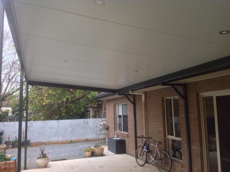 Reverse Skillion Verandah With Roof Sheeting All Type
