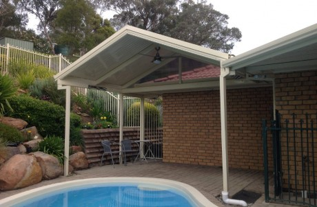 Clear Span Gable Roof Verandah with Deck