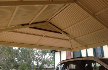Multispan Dutch Gable Carport Underneath