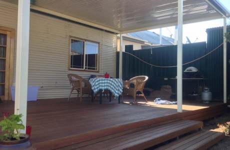 Broken Hill Verandah with Timber Framed Deck