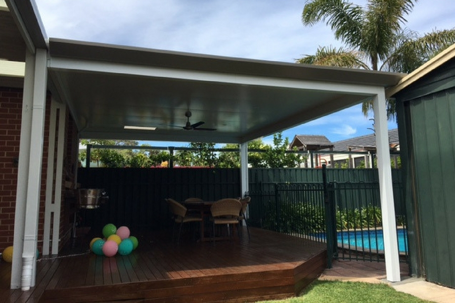 Stratco Pavilion With Outdoor Ceiling Fan All Type Roofing