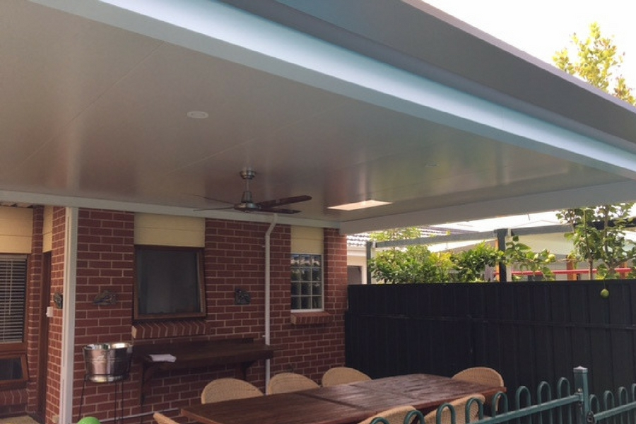 Stratco Pavilion with Outdoor Ceiling Fan - All Type Roofing